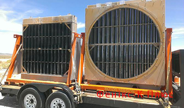 Cooling radiators for excavators