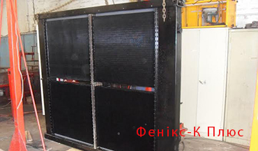 Radiators cooling for mobile cranes